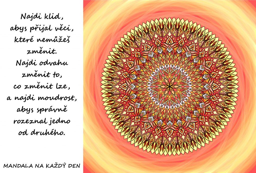 Mandala Najdi klid, odvahu a moudrost