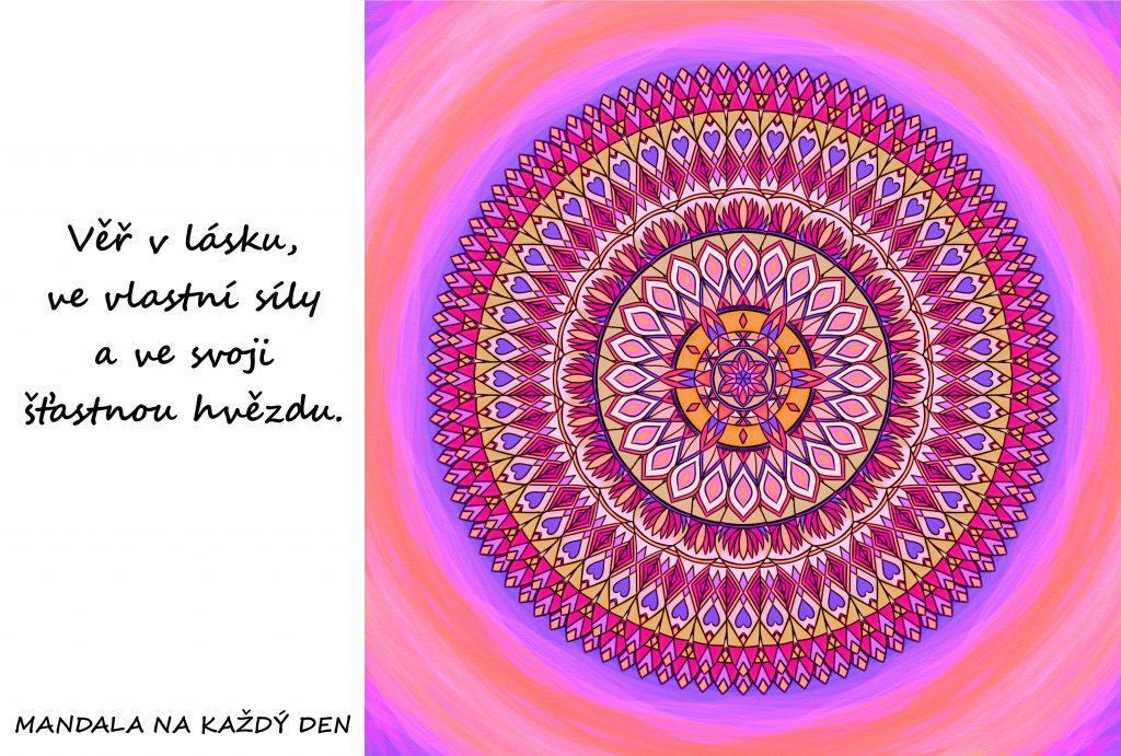 Mandala Věř ve svoji šťastnou hvězdu