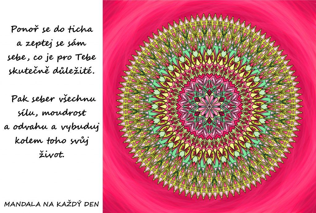 Mandala Žij svůj život snů