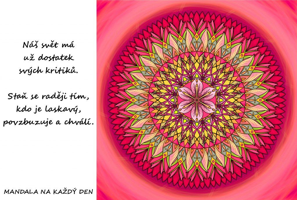 Mandala Buď laskavý, povzbuzuj druhé a chval