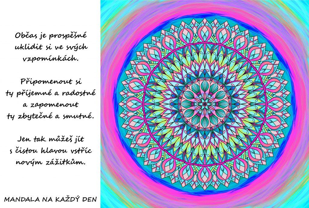Mandala Ukliď si ve vzpomínkách