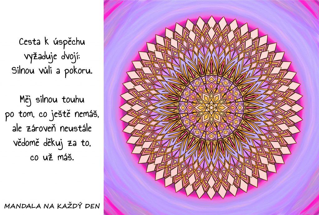 Mandala Silná vůle a pokora