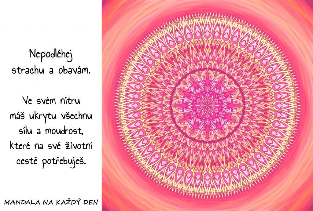 Mandala Nepodléhej strachu a obavám
