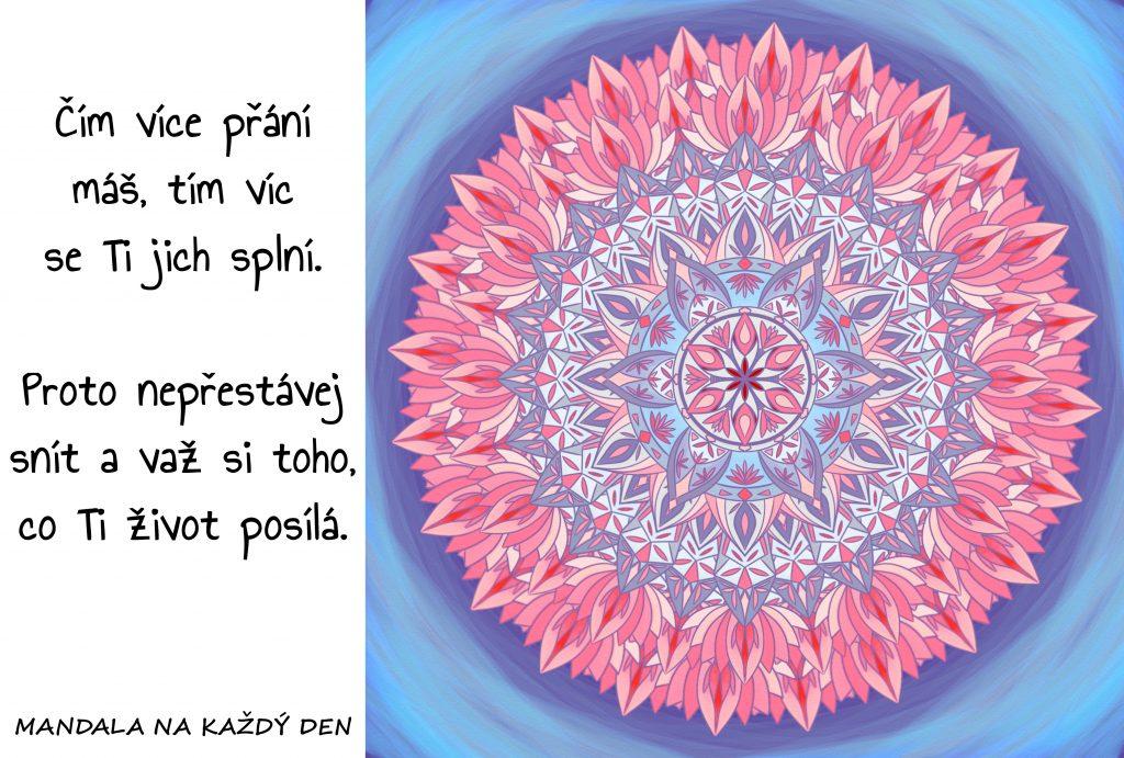 Mandala Nepřestávej snít