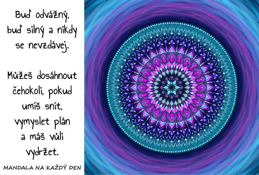 Mandala Odvaha, síla a vytrvalost