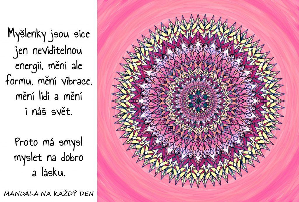 Mandala Energie pozitivních myšlenek