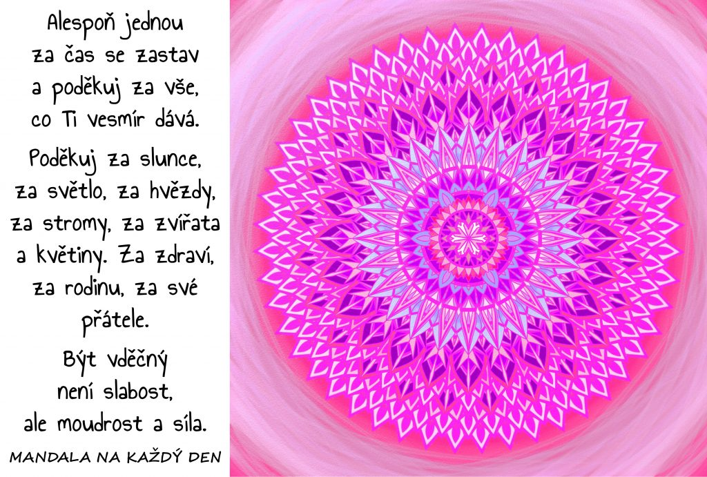 Mandala Buď vděčný