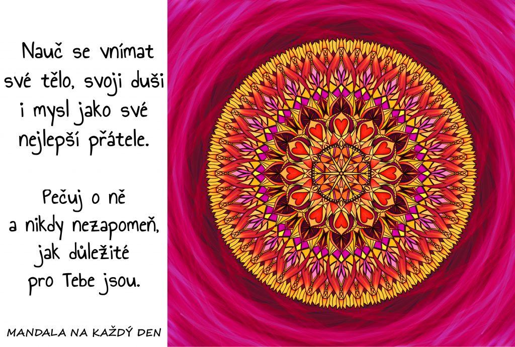 Mandala Miluj své tělo, duši i mysl