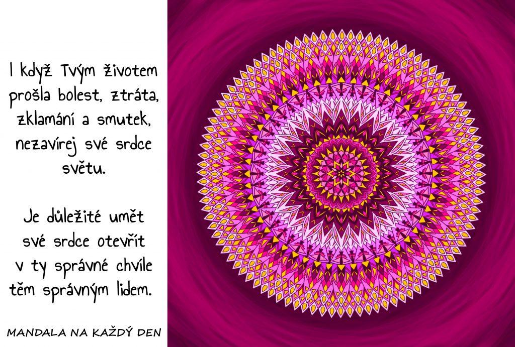 Mandala Nezavírej své srdce