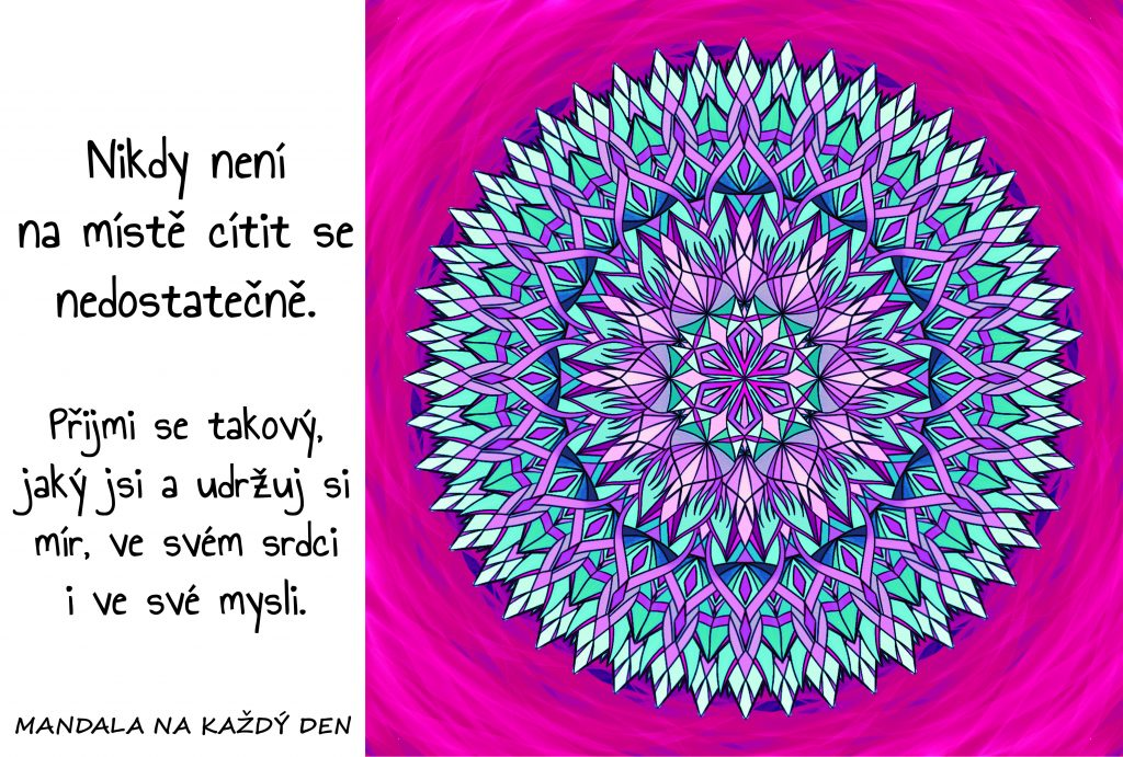Mandala Mír v srdci i mysli