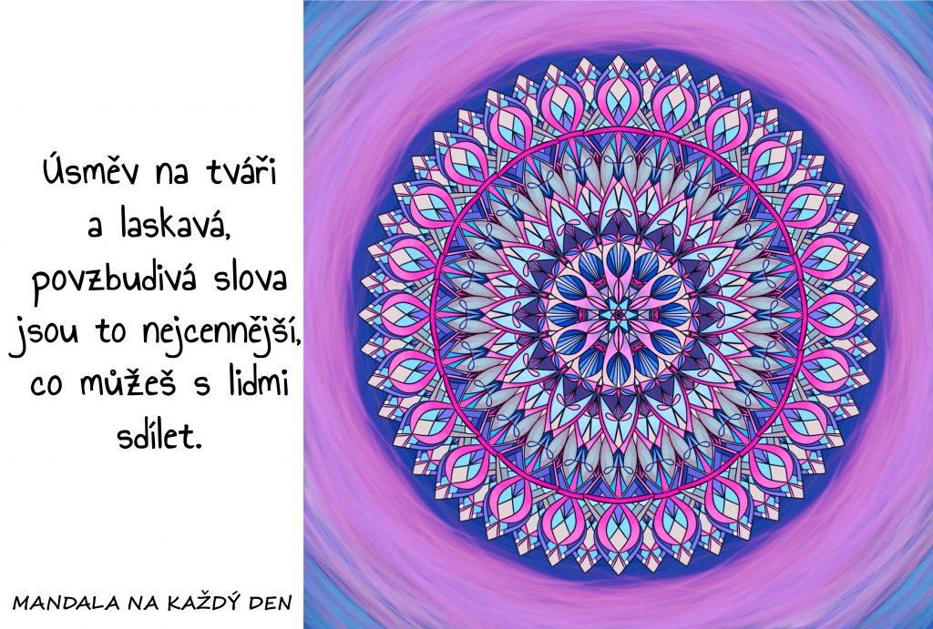 Mandala Úsměv, laskavost a povzbuzení