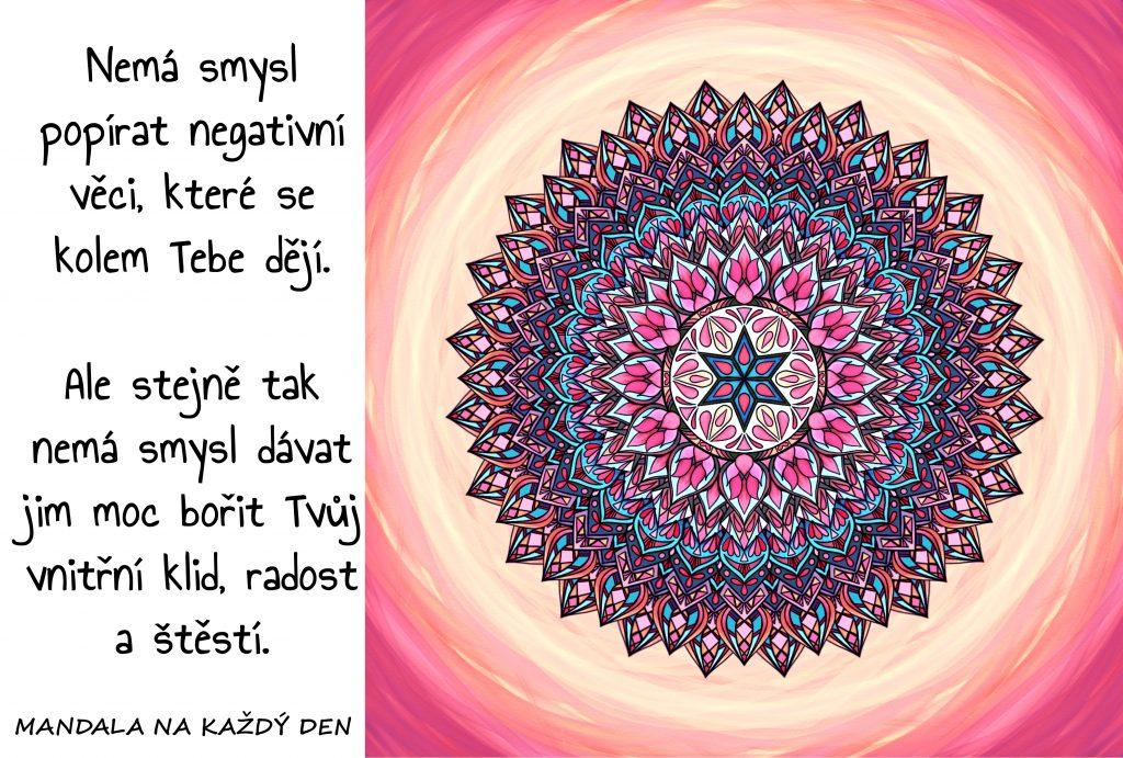 Mandala Udrž si svůj klid, radost a štěstí