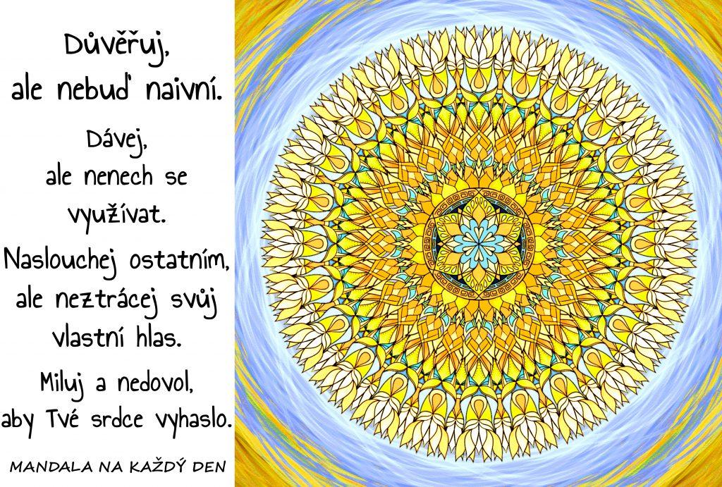 Mandala Důvěřuj, dávej, naslouchej a miluj