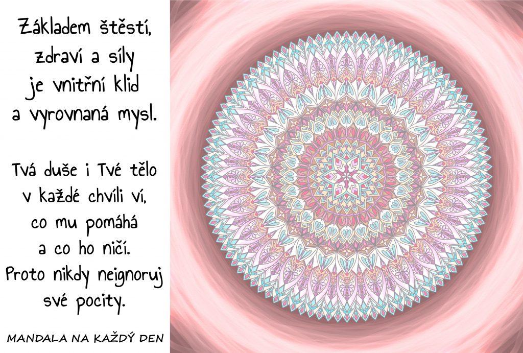Mandala Naslouchej svým pocitům