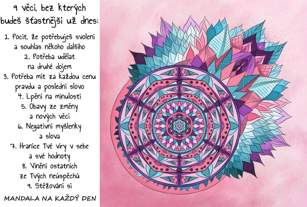 Mandala 9 věcí, bez kterých budeš šťastnější
