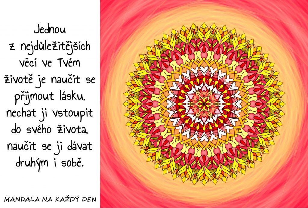 Mandala Nauč se přijímat lásku