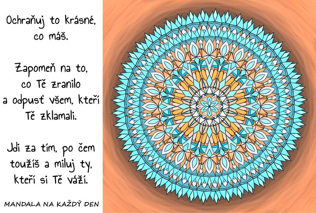 Mandala Žij šťastně