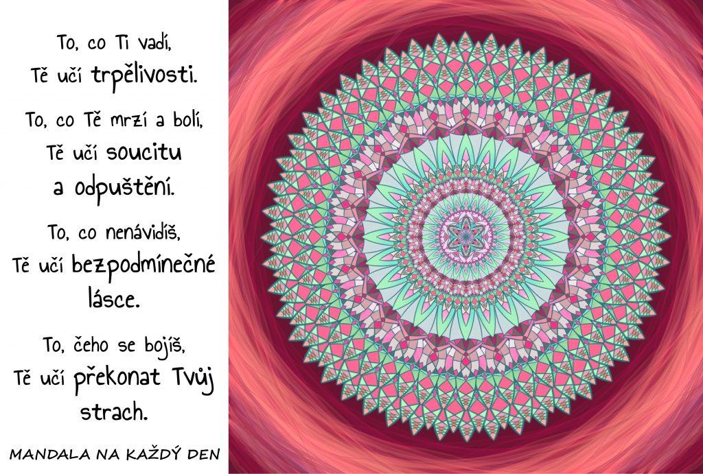 Mandala Trpělivost, láska, soucit a odvaha