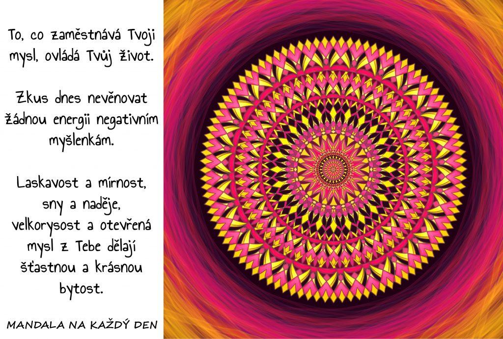 Mandala Buď šťastná a krásná bytost