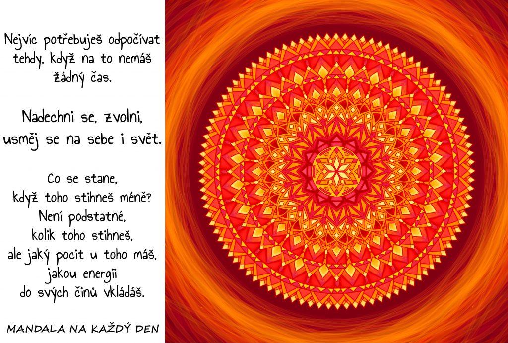 Mandala Zvolni a usměj se na svět