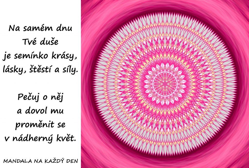Mandala Krása, láska, štěstí a síla