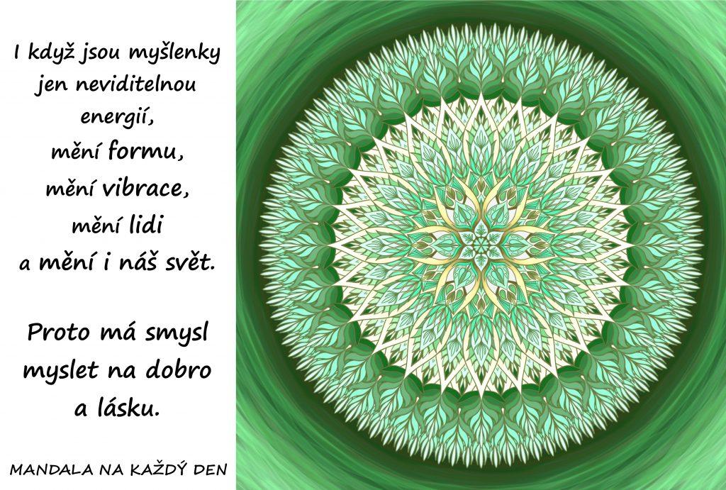 Mandala Mysli na dobro a lásku