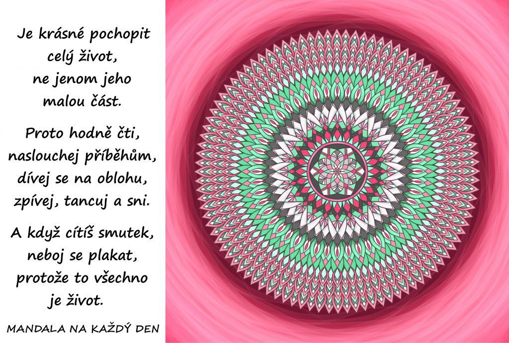 Mandala Poznej všechny krásy života