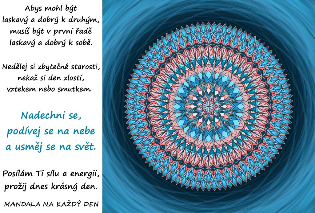Mandala Prožij krásný laskavý den