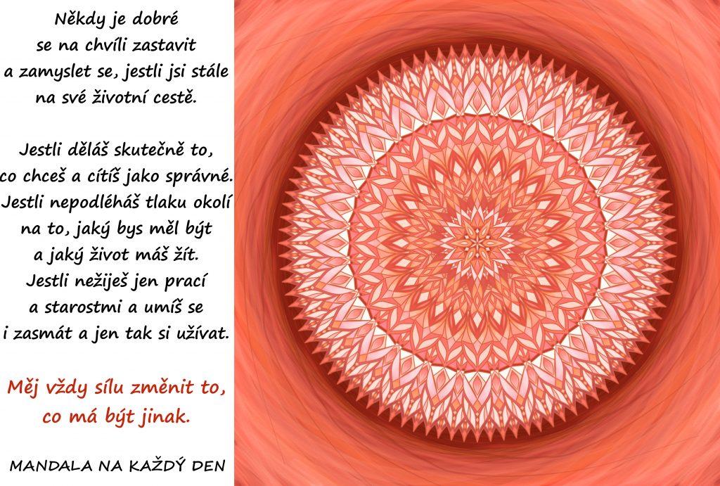 Mandala Na chvíli se zastav a přemýšlej