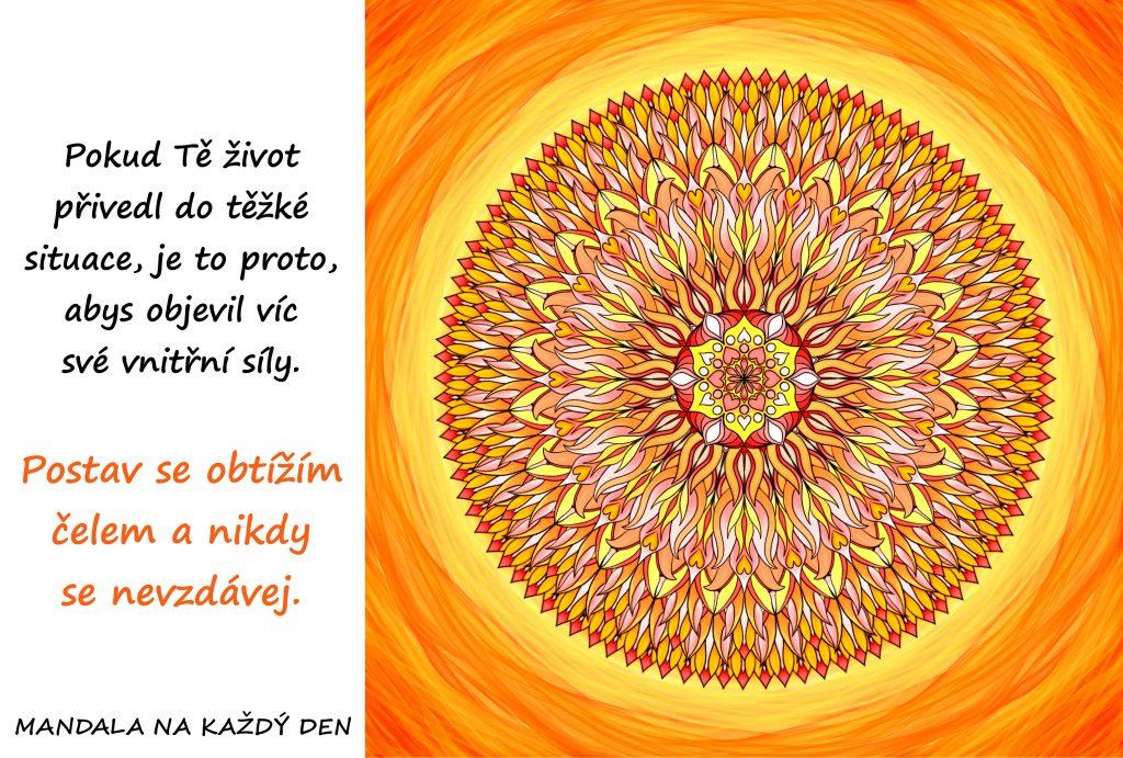 Mandala Objev svoji vnitřní sílu