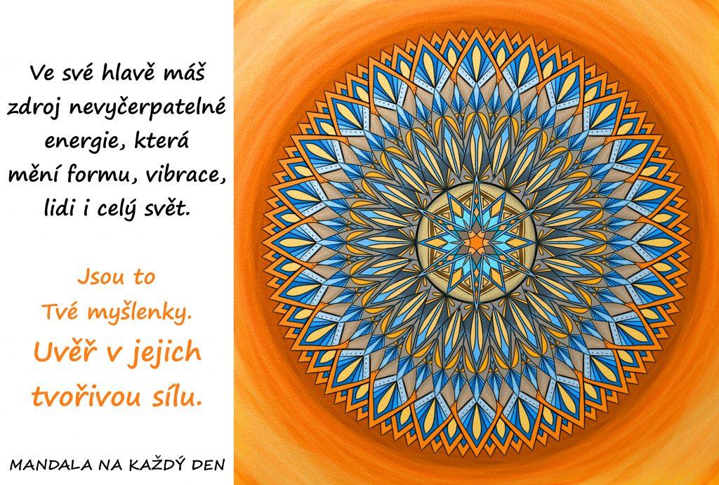 Mandala Uvěř v sílu svých myšlenek
