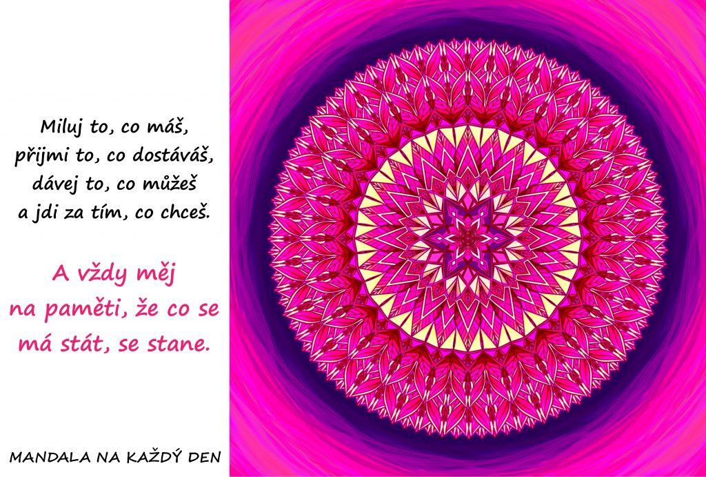 Mandala Miluj, přijímej, dávej a pokračuj