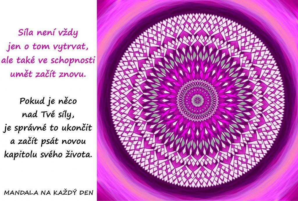 Mandala Důvěřuj své intuici a síle