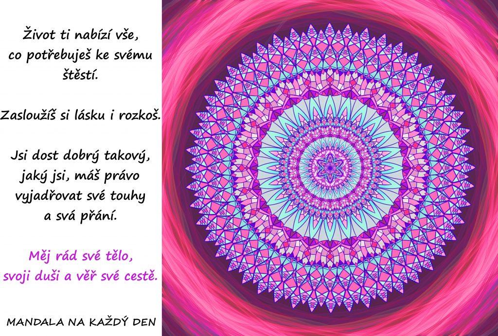 Mandala Měj rád své tělo, duši i cestu