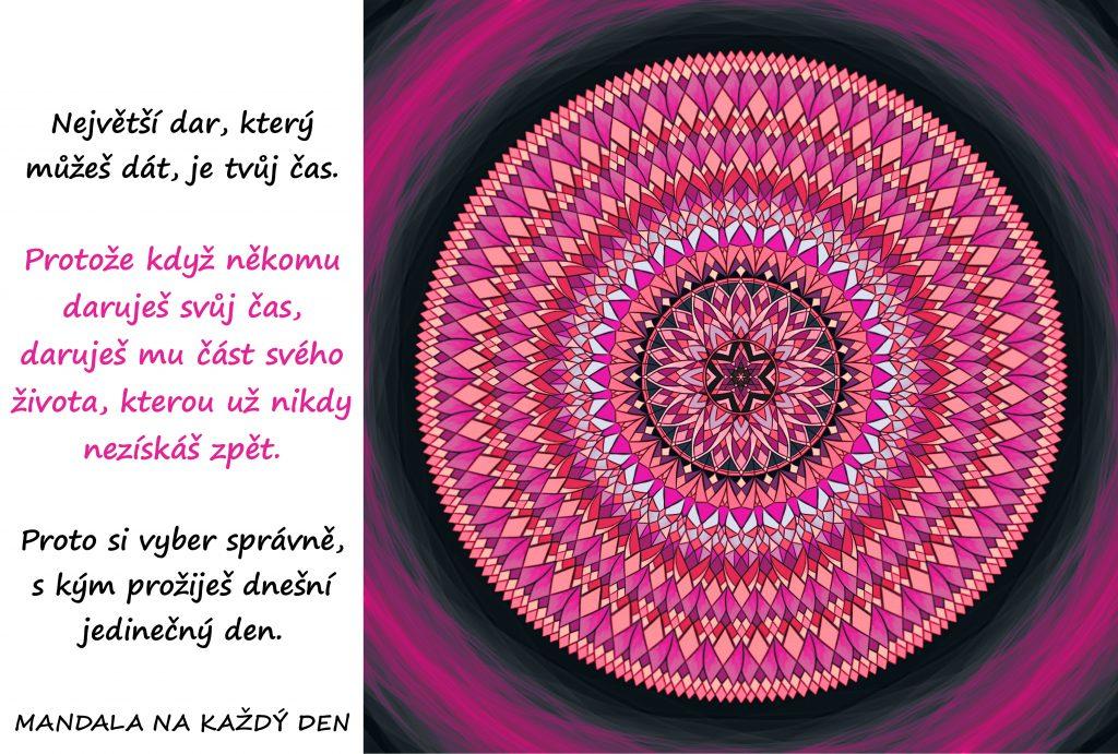 Mandala Daruj svůj čas moudře