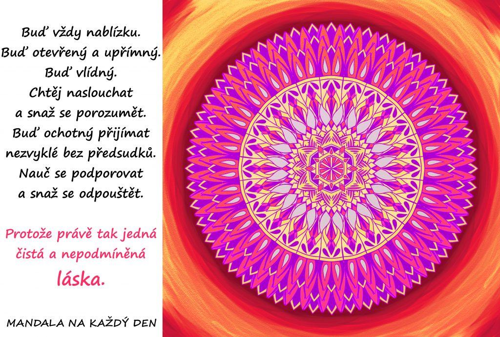 Mandala Čistá a nepodmíněná láska