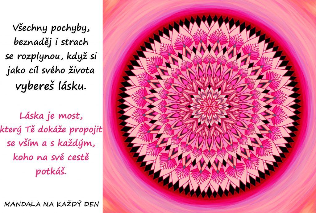 Mandala Vyber si jako cíl lásku