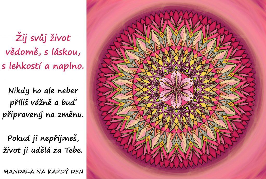 Mandala Žij vědomě a s lehkostí