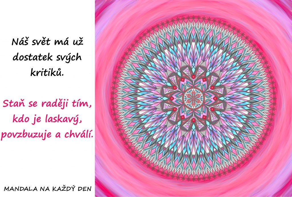 Mandala Buď laskavý, povzbuzuj a chval