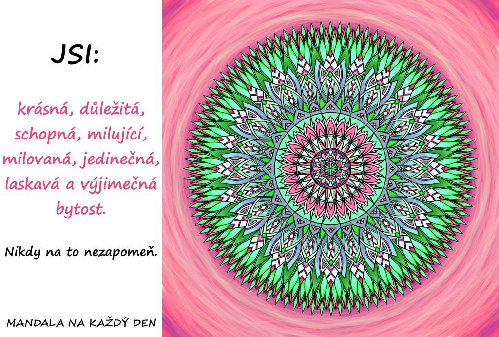 Mandala Jsi krásná bytost