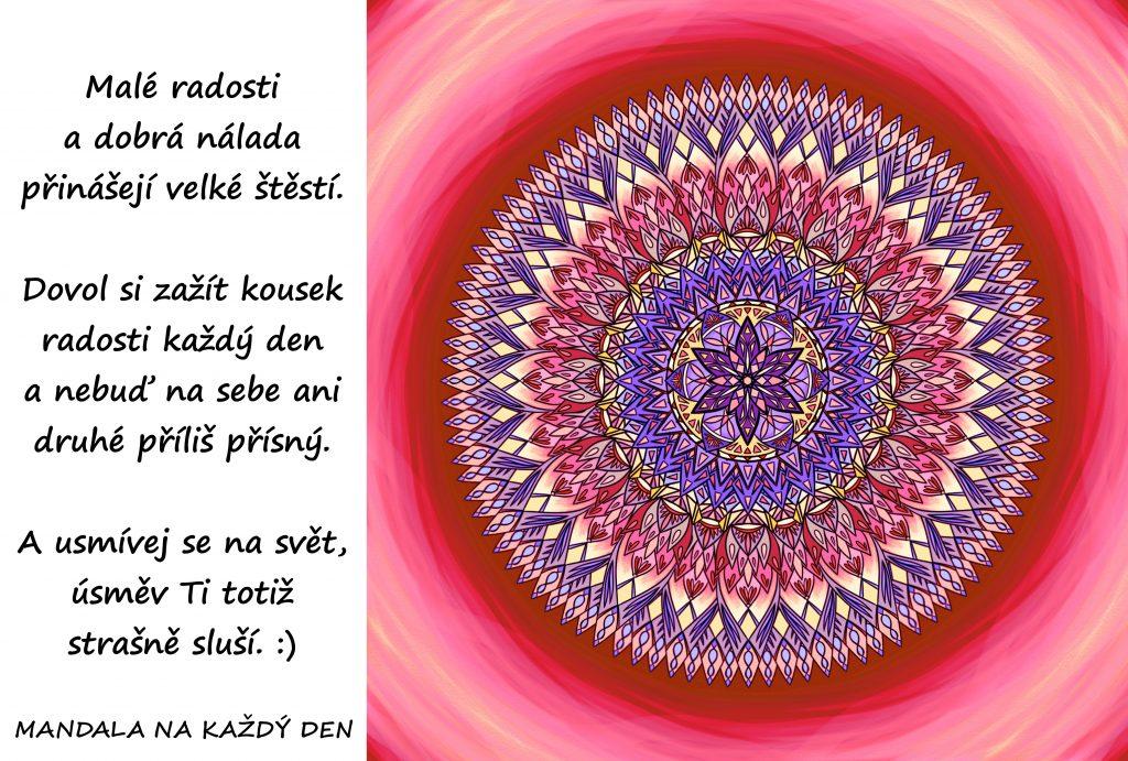Mandala Dovol si kousek štěstí