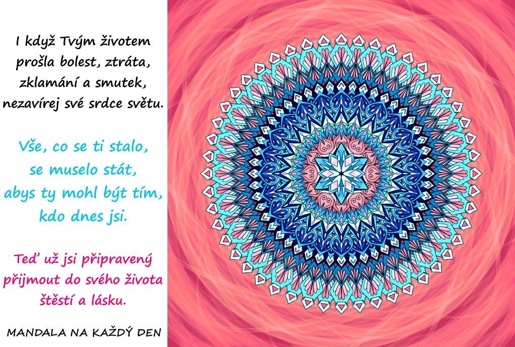 Mandala Přijmi do života štěstí a lásku