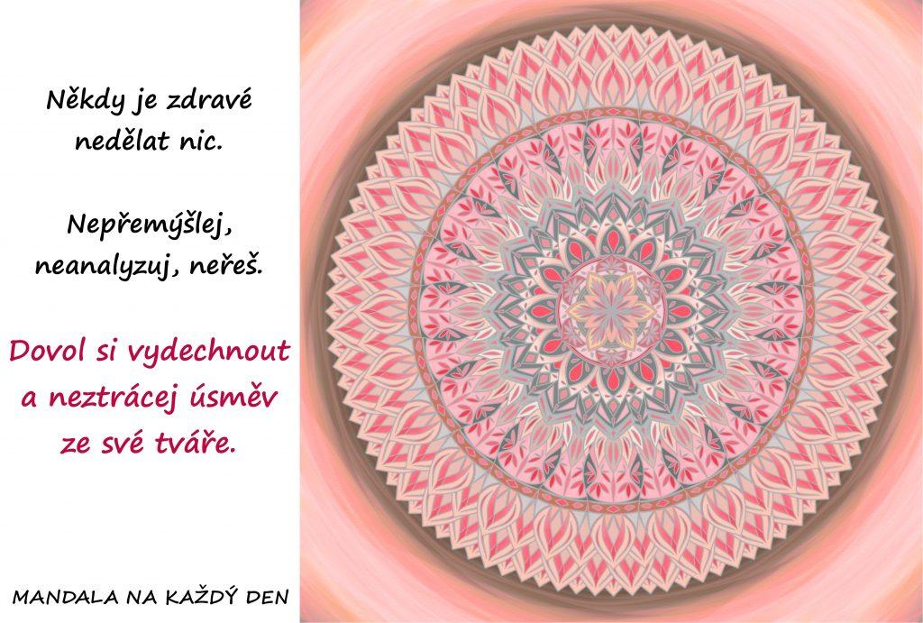 Mandala Dovol si vydechnout a být šťastný
