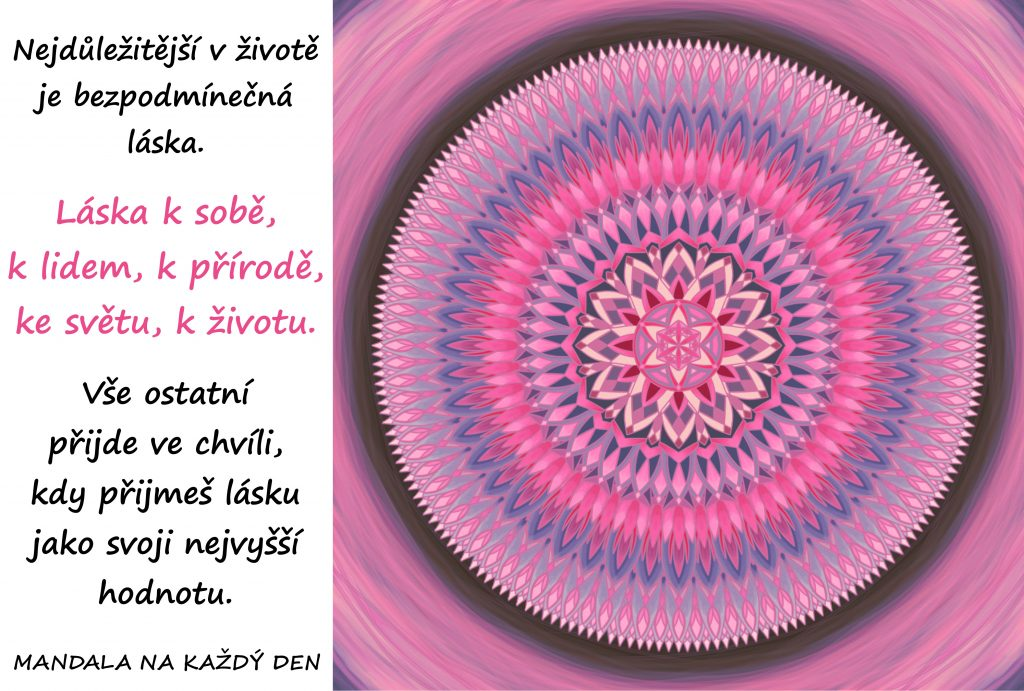 Mandala Láska je nejvyšší hodnota