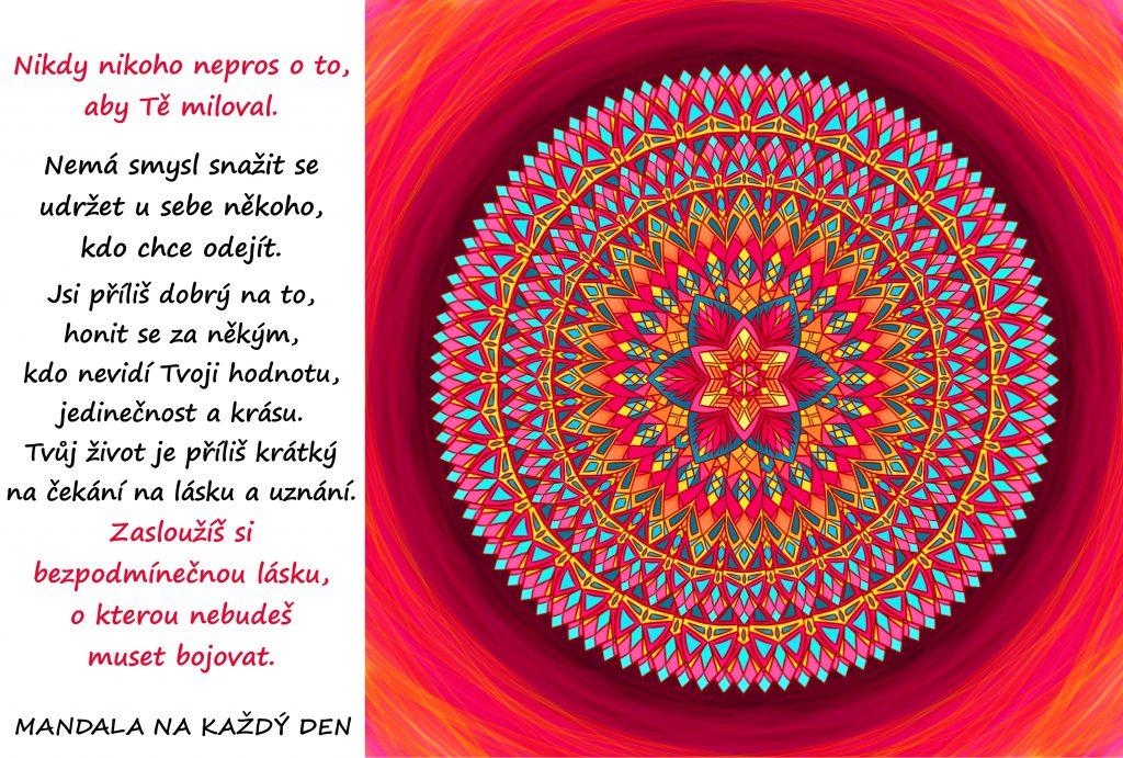 Mandala Zasloužíš si bezpodmínečnou lásku