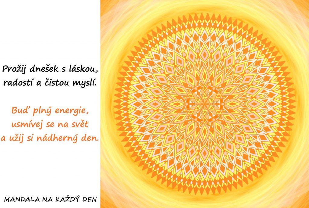 Mandala Prožij každý den s láskou