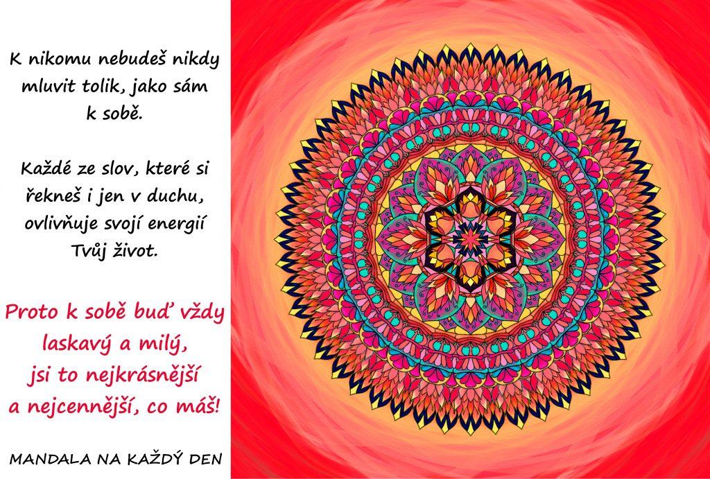 Mandala Buď k sobě vždy laskavý