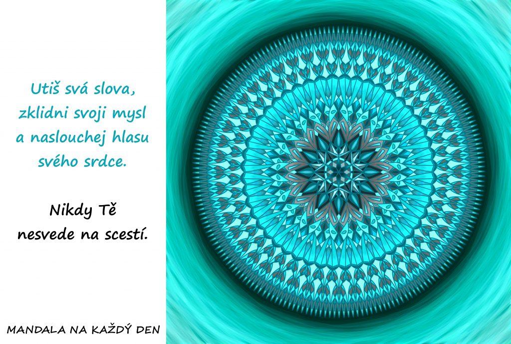 Mandala Naslouchej hlasu srdce