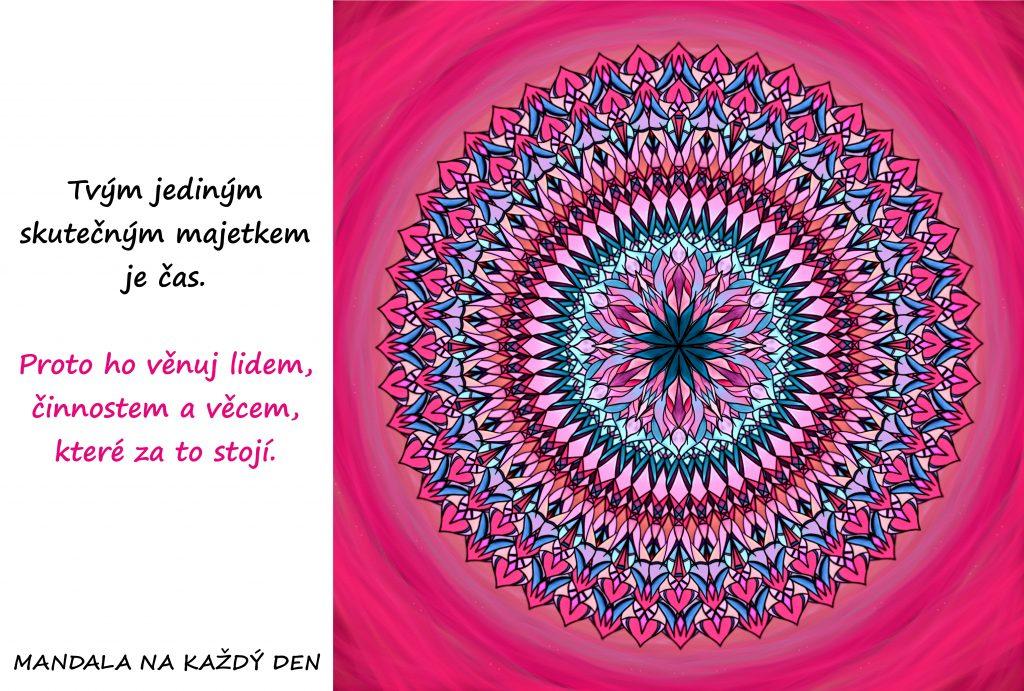 Mandala Nakládej se svým časem moudře
