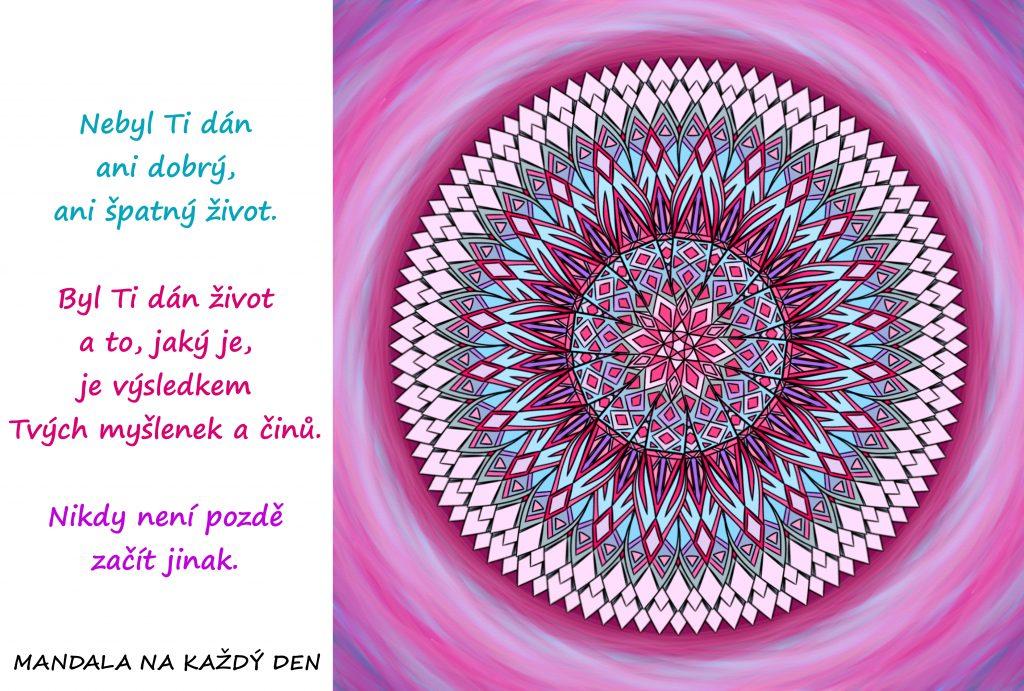 Mandala Vytvoř si život podle svých představ
